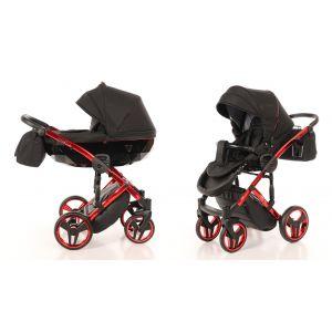 Kinderwagen Junama Individual 01 Black / Red Frame