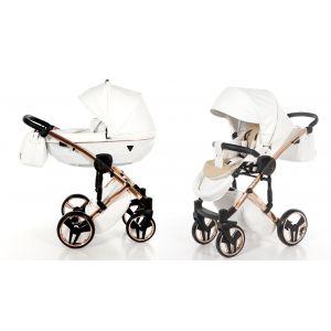 Kinderwagen Junama Individual 06 White / Rose Gold Frame