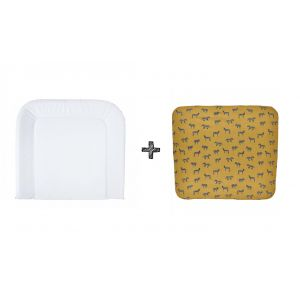 Set | Aankleedkussen Bebe-jou Large + Waskussenhoes Meyco Zebra Honey