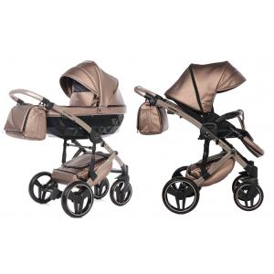 Kinderwagen Junama 2in1 Fluo II 04 Brown / Beige met Autostoel