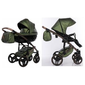 Kinderwagen Junama 2in1 Fluo II 05 Olive / Brown met Autostoel