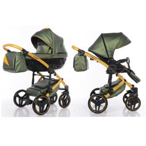 Kinderwagen Junama 3in1 Fluo II 04 Brown / Beige met Autostoel