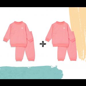 Set   2 Feetje Pyjama's   Wafel Roze Summer Edition   Maat 56 t/m 128