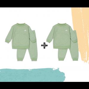 Set   2 Feetje Pyjama's   Wafel Groen Summer Edition   Maat 56 t/m 128