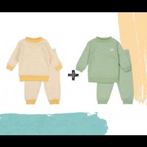 Set   2 Feetje Pyjama's   Wafel Groen Summer Edition + Yellow   Maat 56 t/m 128