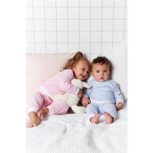Set van 2 Feetje Pyjama's Wafel Pink + Blue Maat 56 t/m 116
