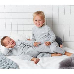 Set van 2 Feetje Pyjama's Wafel Grey Melange Maat 56 t/m 116