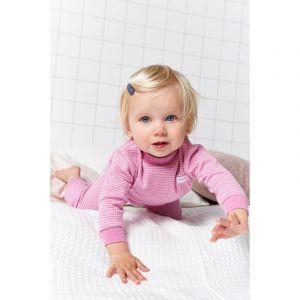 Set van 2 Feetje Pyjama's Wafel Pink Melange Maat 56 t/m 116