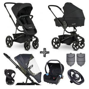 Kinderwagen Easywalker Harvey³ Shadow Black + Autostoel + Accessoires