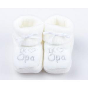 Babyslofjes | Ik ♥ opa | Wit