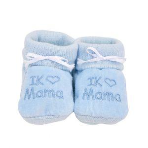 Babyslofjes | Ik ♥ mama | Blauw