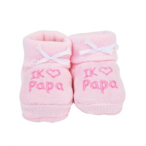 Babyslofjes | Ik ♥ papa | Roze