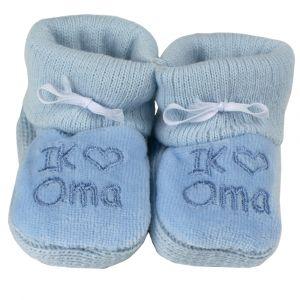 Babyslofjes Petit Ik ♥ Oma Blauw