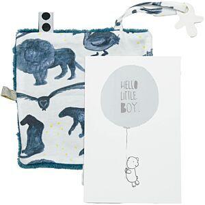 Knuffeldoekje + Giftcard Snoozebaby 452 Hello Little Boy