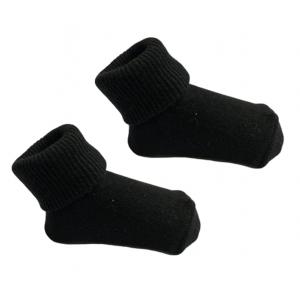 1 Paar Sokjes Uni Zwart 0-3mnd