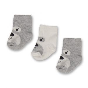 Sokjes 3st. 0-3mnd 15.01.0048 White/Grey