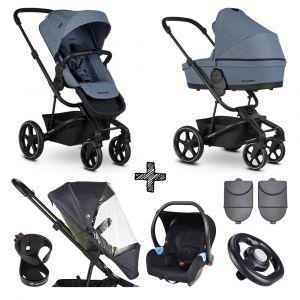 Kinderwagen Easywalker Harvey³ Steel Blue + Autostoel + Accessoires