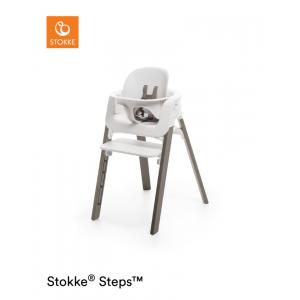 Kinderstoel Stokke® Steps™ 349703 White/Hazy Grey + Babyset White
