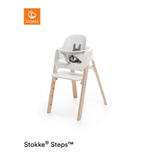Kinderstoel Stokke® Steps 349701 White/Natural + Babyset White