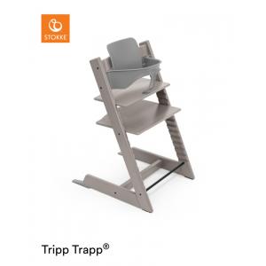 Kinderstoel Stokke® Tripp Trapp® Oak Grey Wash + Babyset