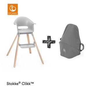 Kinderstoel Stokke® Clikk Cloud Grey + Gratis Reistas