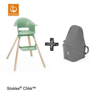 Kinderstoel Stokke® Clikk Clover Green + Gratis Reistas