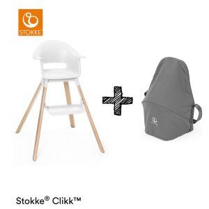Kinderstoel Stokke® Clikk White + Gratis Reistas