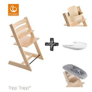 SET | Kinderstoel Stokke® Tripp Trapp® Natural met Newbornset & Babyset &  Gratis Eetblad