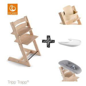 SET | Kinderstoel Stokke® Tripp Trapp® Oak Natural met Newbornset & Babyset & Gratis Eetblad