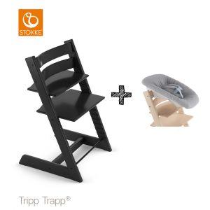 SET | Kinderstoel Stokke® Tripp Trapp® Black met Newbornset