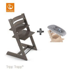 SET | Kinderstoel Stokke® Tripp Trapp® Hazy Grey met Newbornset
