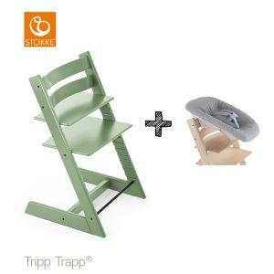 SET | Kinderstoel Stokke® Tripp Trapp® Moss Green met Newbornset