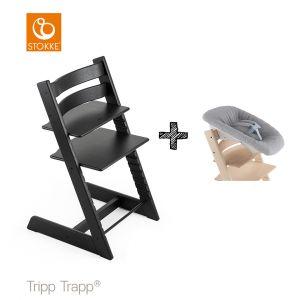 SET | Kinderstoel Stokke® Tripp Trapp® Oak Black met Newbornset