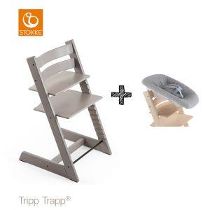 SET | Kinderstoel Stokke® Tripp Trapp® Oak Grey Wash met Newbornset