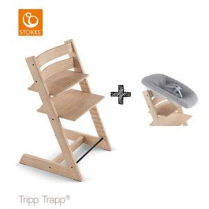 SET | Kinderstoel Stokke® Tripp Trapp® Oak Natural met Newbornset