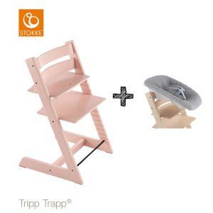 SET | Kinderstoel Stokke® Tripp Trapp® Serene Pink met Newbornset