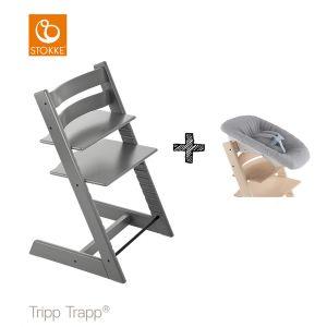 SET | Kinderstoel Stokke® Tripp Trapp® Storm Grey met Newbornset