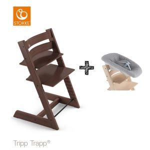 SET | Kinderstoel Stokke® Tripp Trapp® Walnut Brown met Newbornset