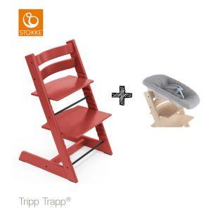 SET | Kinderstoel Stokke® Tripp Trapp® Warm Red met Newbornset