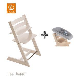 SET | Kinderstoel Stokke® Tripp Trapp® White Wash met Newbornset