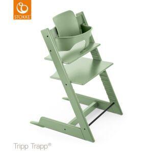 Kinderstoel Stokke® Tripp Trapp® Moss Green + Babyset + Gratis Stokke Tray
