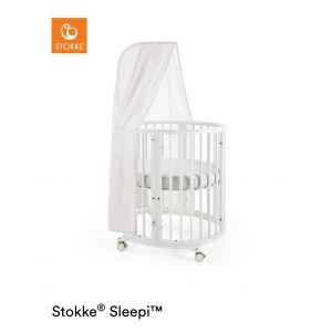 STOKKE® SLEEPI™ Mini Bed White + gratis piekstok en sluier