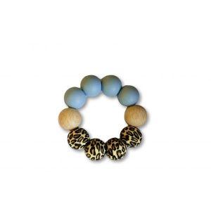 Bijtring Chewies Basic Chewie Leopard/Blue