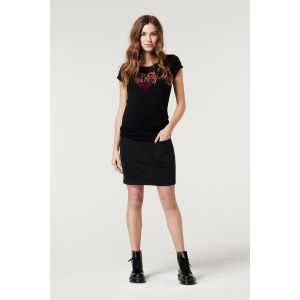 T-shirt Supermom SMCJUL21 Heart Black