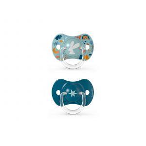 Speen Duo Suavinex Forest Silicone Reversible 18+ mnd Blue