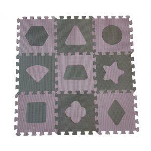 Speelmat BabyDan Geometric Foam Roze 90 x 90 cm