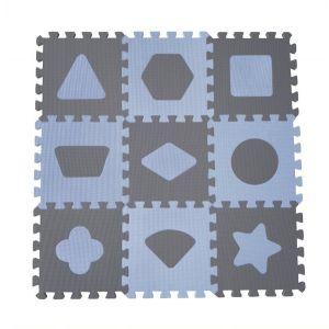 Speelmat BabyDan Geometric Foam Blauw 90 x 90 cm