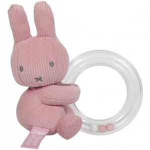 Rammelaar Ring Tiamo Nijntje Pink Baby Rib