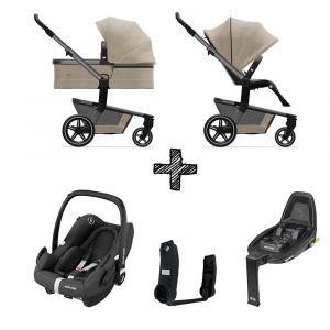 Kinderwagen Joolz Hub+ Timeless Taupe met Autostoel & Base