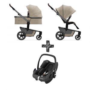 Kinderwagen Joolz Hub+ Timeless Taupe met Autostoel
